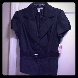 Black short sleeve blazer.